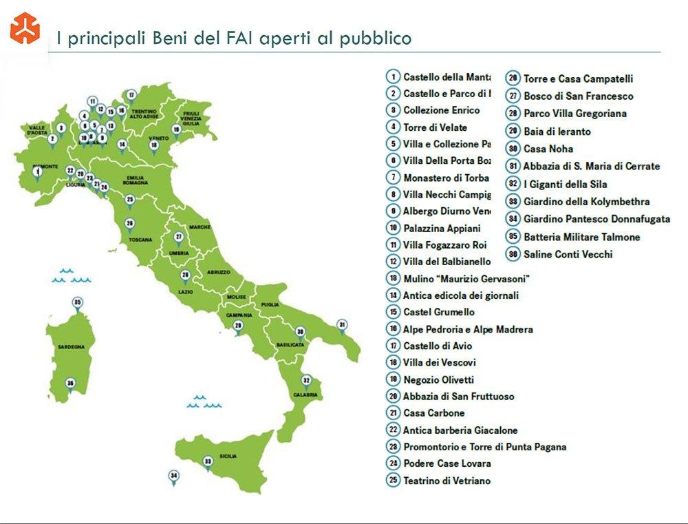Mappa dei Beni del FAI